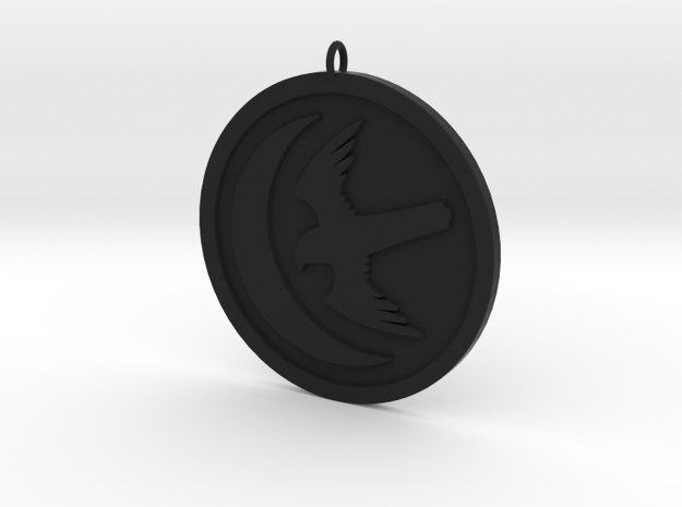 Arryn Pendant in Black Natural Versatile Plastic