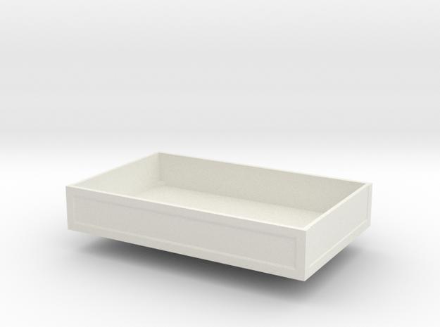 Ballastbox-13.5mmhigh in White Natural Versatile Plastic