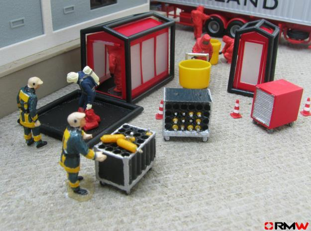 HO/1:87 Decon set kit 3d printed Diorama example