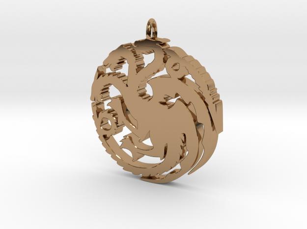 Targaryen Pendant in Polished Brass