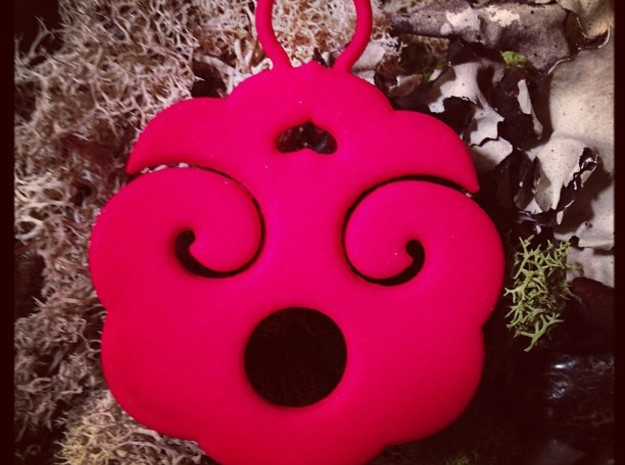 """Choban"" Japanese single ornament 3d printed Customer photo: Coral Red"