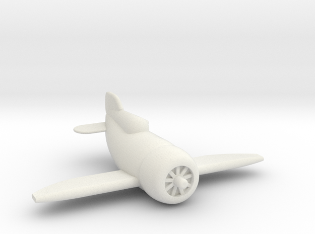 Gee Bee Racer in White Strong & Flexible