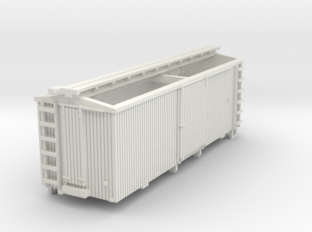 HOn30 22 foot Boxcar in White Natural Versatile Plastic