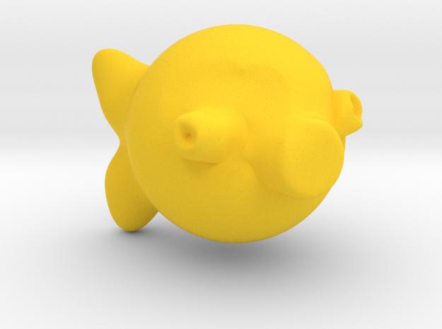 Babel Fish in Yellow Processed Versatile Plastic