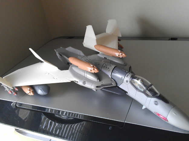 VF-0 Fenix Trainer - B type Conversion Kit 3d printed NOTE; This set does not have hard-points to mount the missiles, but otherwise identical to the A type Set.