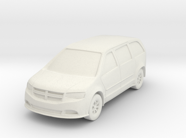 Minivan At N Scale in White Natural Versatile Plastic