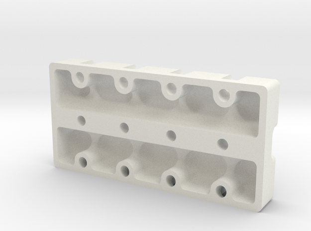 HD 4 Cylinder Valve Cover in White Natural Versatile Plastic