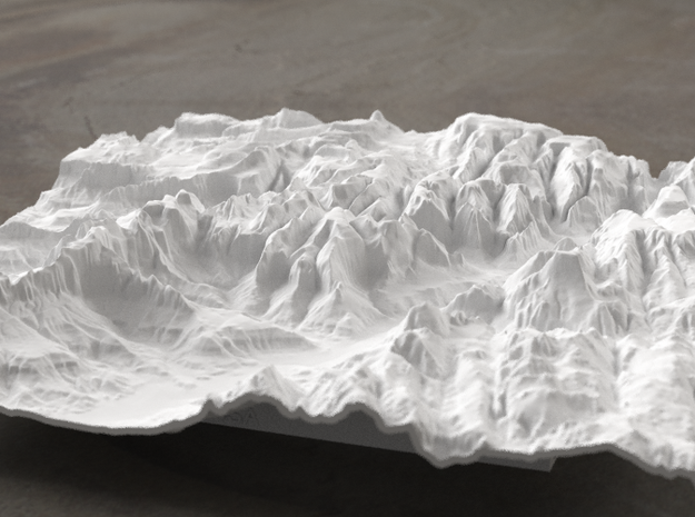 8'' Zion National Park Terrain Model, Utah, USA in White Natural Versatile Plastic