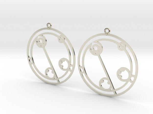 Claudia - Earrings - Series 1 in 14k White Gold