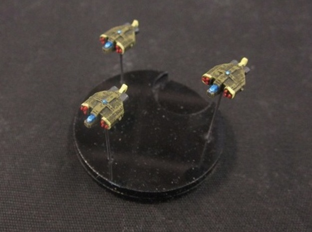 8 Human Alliance Gunships in White Natural Versatile Plastic