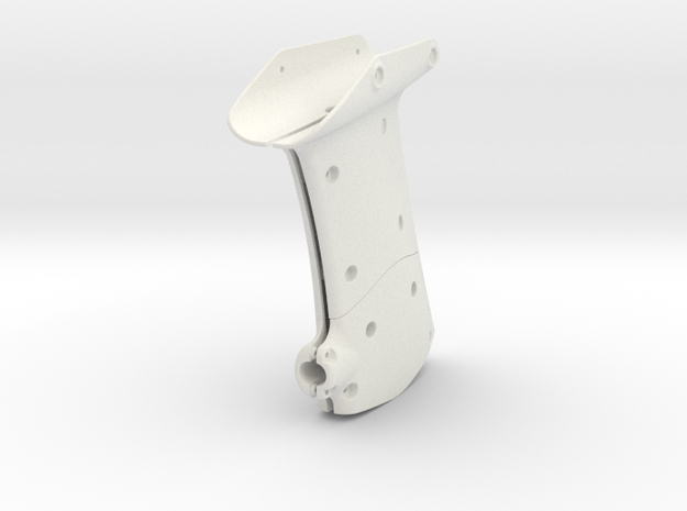 RVJET Landing Gear REAR in White Natural Versatile Plastic