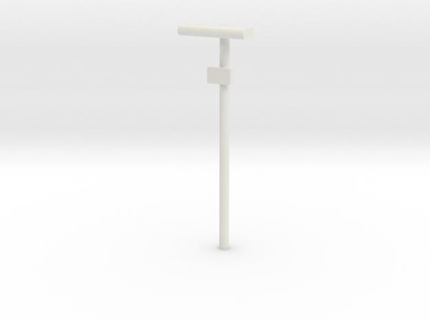 DSB Stations lampe med lille undertavle 1/87 in White Natural Versatile Plastic