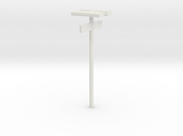 DSB Stations (dobbelt) lampe med kontrolafgiftsski in White Natural Versatile Plastic