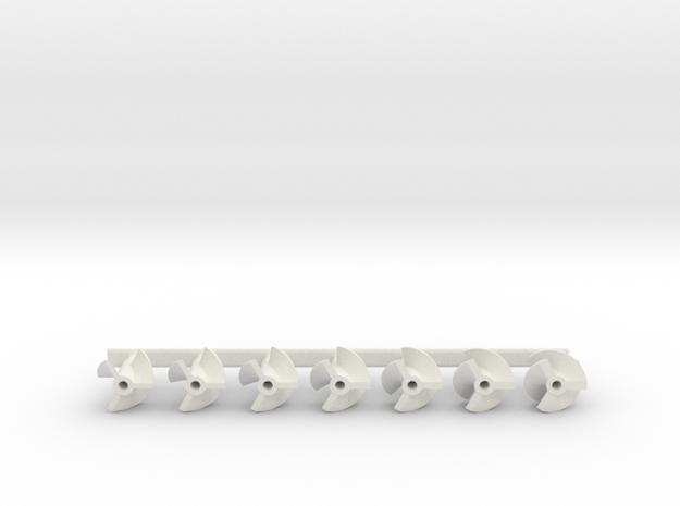 Prop_Kit_3Bl in White Natural Versatile Plastic