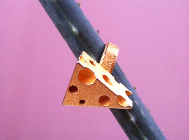Cheezy Ring in Polished Gold Steel