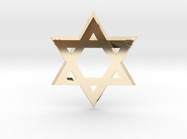 """Star of David"" pendant #Silver 3d printed"