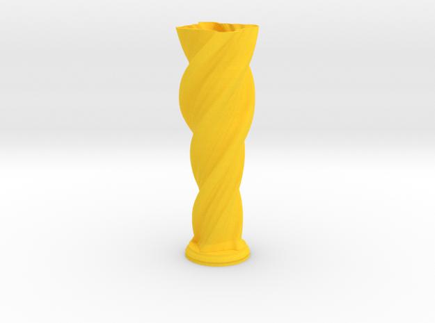 "Vase 'Anuya' - 20cm / 7.9"" in Yellow Processed Versatile Plastic"