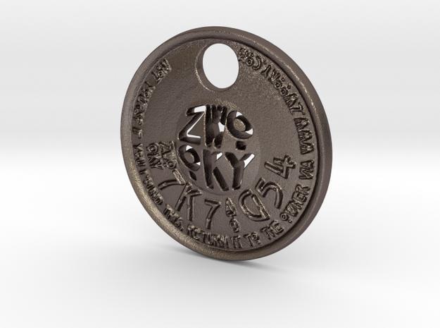 ZWOOKY Style 224 - pendant ZWOOKY in Polished Bronzed Silver Steel