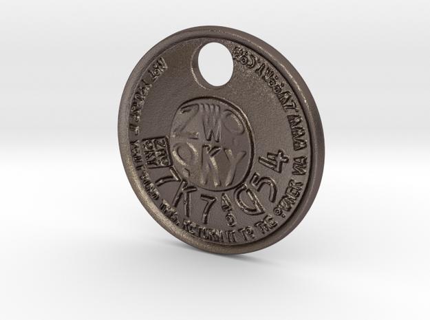 ZWOOKY Style 227 - pendant ZWOOKY in Polished Bronzed Silver Steel