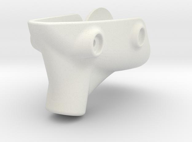 RVJET Landing Gear TRIKE (nose) in White Natural Versatile Plastic