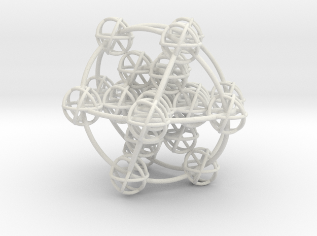 3D Metatron's Sphere: based on Metatron's Cube 3d printed