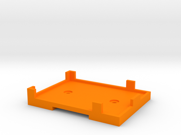 Rx Mount (for Futaba 6014) in Orange Processed Versatile Plastic