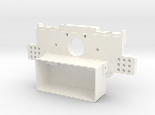 RC10 Rear Bulkhead V1 in White Strong & Flexible Polished