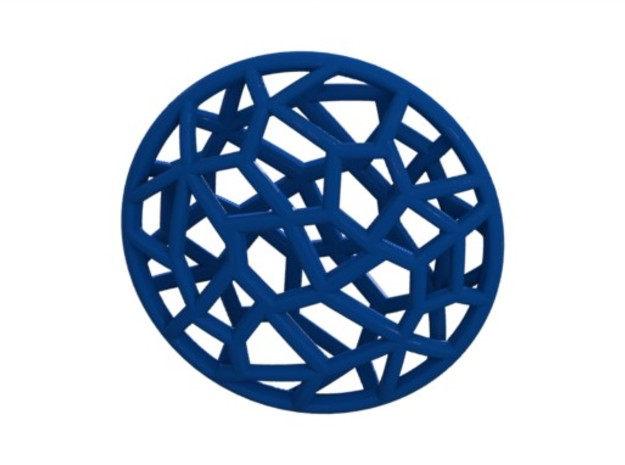Cell Pendant Mini 3d printed Blue (rendered)