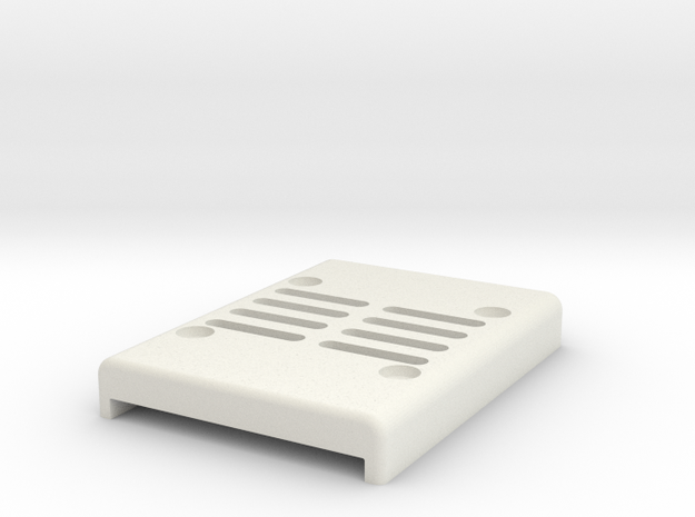 AUAVX2 Case bottom in White Natural Versatile Plastic