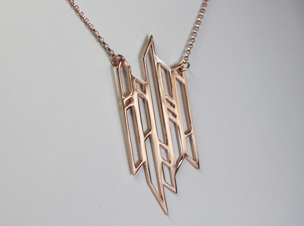 Abstract Fence Pendant