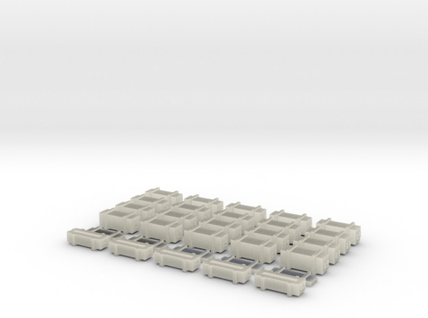 25 Weapon Crates for 6mm, 1/300 or 1/285 3d printed