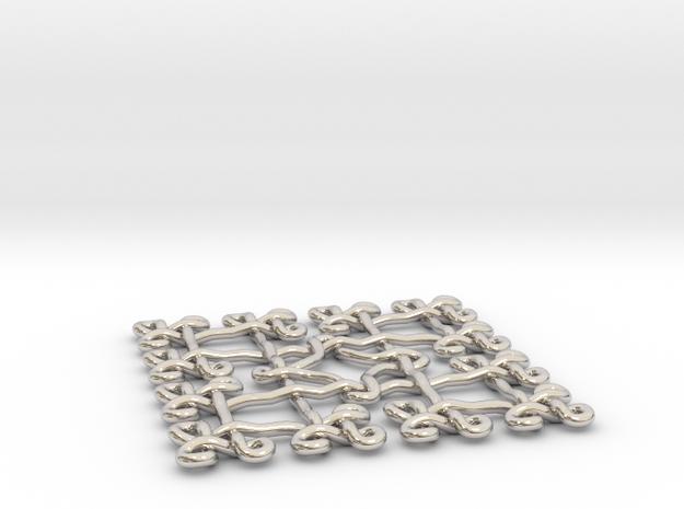 Fractal Celtic knot pendant 3d printed