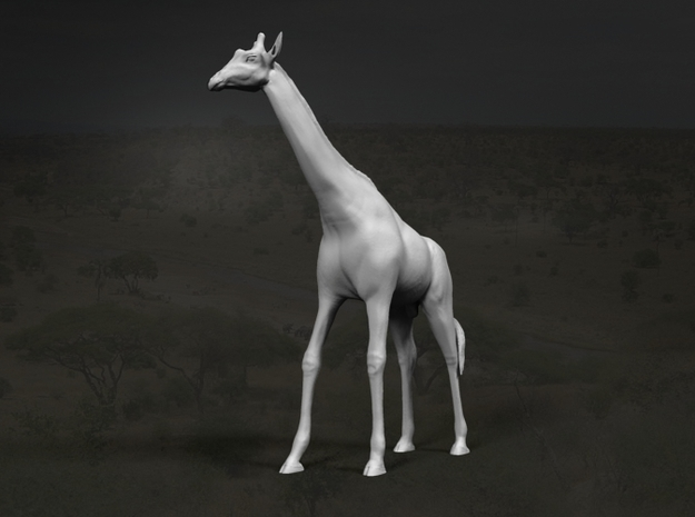 Giraffe 1:87 Standing Male in Frosted Ultra Detail