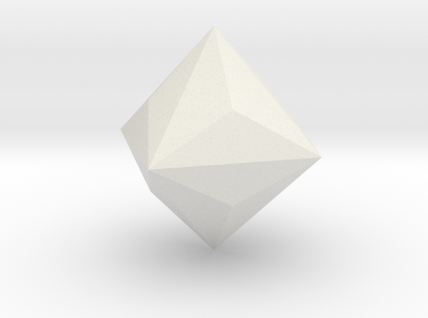 Triakis-octahedron in White Natural Versatile Plastic