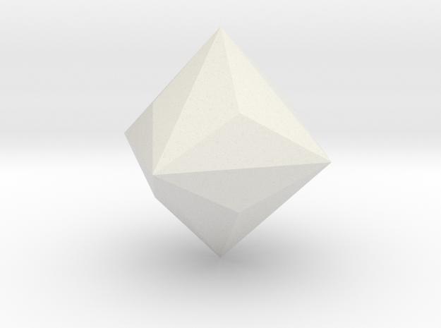 Triakis-octahedron in White Natural Versatile Plastic