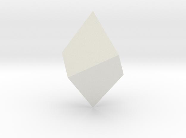 Trigonal trapezohedron in White Natural Versatile Plastic