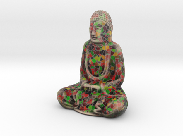 Textured Buddha: fiesta inlay. in Full Color Sandstone