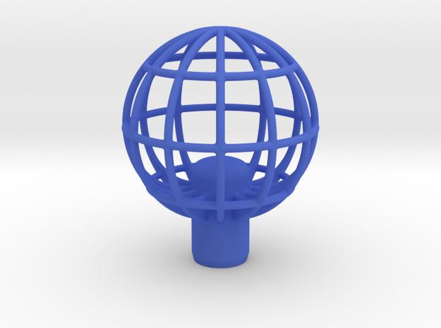 "Shift Knob Globe 12x1.25 2.25"" in Blue Processed Versatile Plastic"