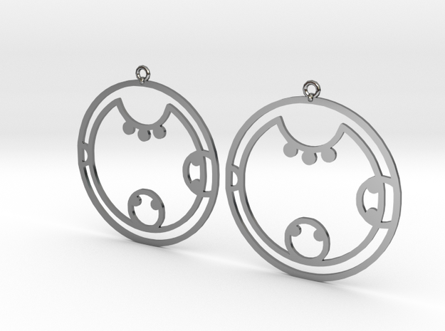 Kyra - Earrings - Series 1 in Fine Detail Polished Silver