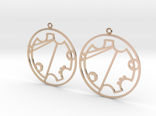 Trystal - Earrings - Series 1 in 14k Rose Gold