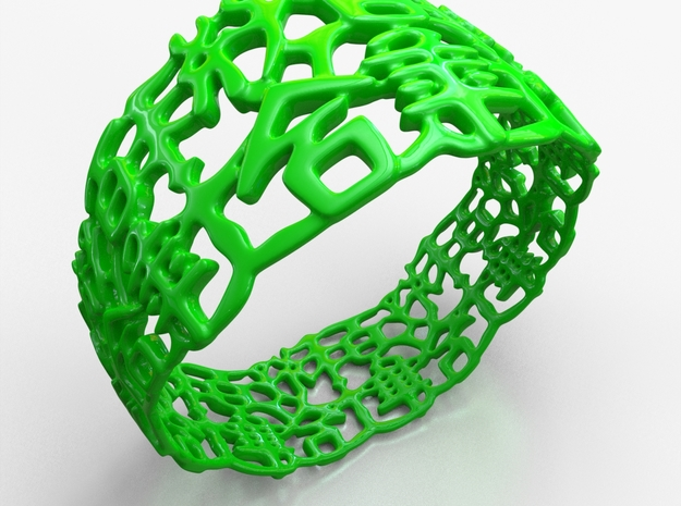 PAN Bracelet D64 RE115s1A10m25M45FR023-plastic in Green Processed Versatile Plastic