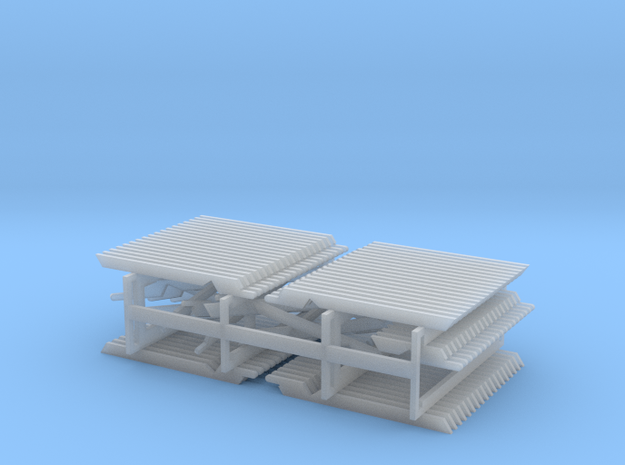 HO Scale PEIR Booking Stn Rafter Set in Smooth Fine Detail Plastic