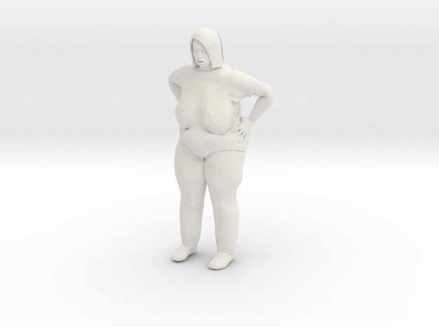 Fat lady 1/20 scale in White Natural Versatile Plastic