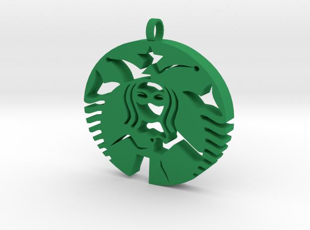 Quinn Coffee Charm in Green Processed Versatile Plastic