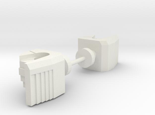 Sideways Hands in White Natural Versatile Plastic