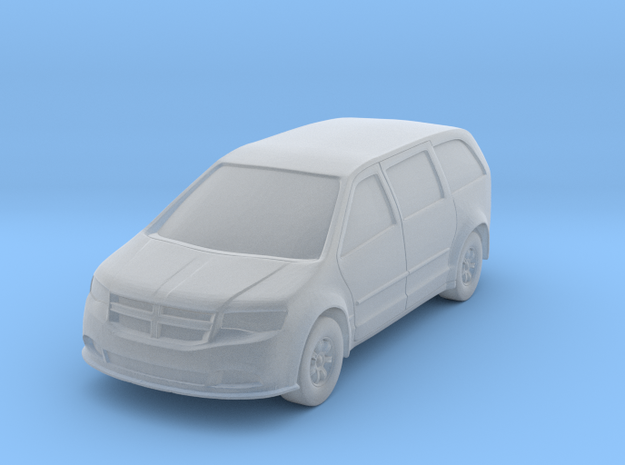 N Scale (1:160) Minivan Hollowed in Smooth Fine Detail Plastic