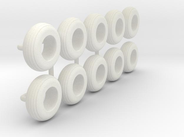 1/64 9.5L-15 Implement Tire in White Natural Versatile Plastic