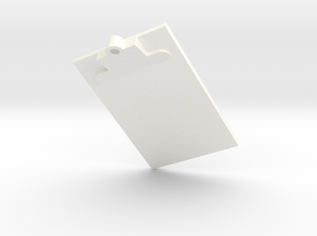 Clip Board in White Processed Versatile Plastic