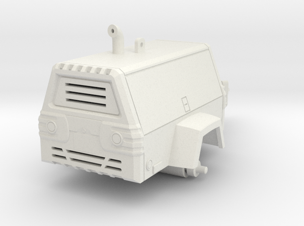 1/64 Towable Air Compressor in White Natural Versatile Plastic