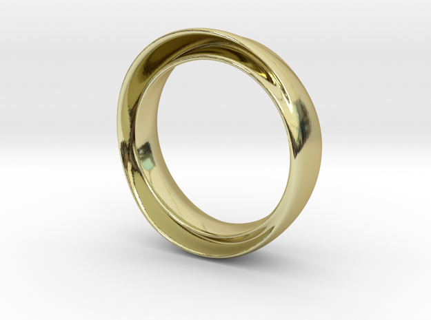 """'Endless Flow' - 16.5cm / 0.65"""" - Size 6 in 18k Gold"""